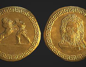 Gold Coin Zeus - Fantasy - 3D asset