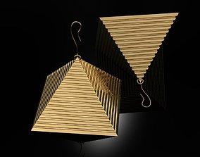 Earrings Pyramids 3D printable model