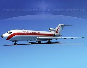 3D Boeing 727-100 World Airways