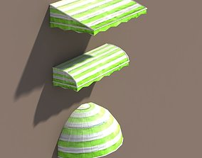 3D asset Awning Misc Architecture Low Poly 3 Colors