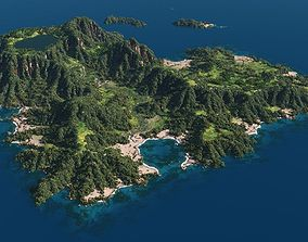 Green island in Vue 3D