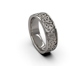 Man Band Celtic Knot Ring 19 3D printable model