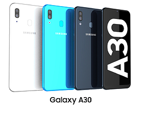 Samsung Galaxy A30 Collection 3D model