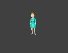 GirlChibi 3D asset