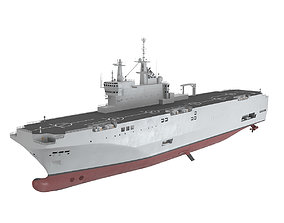 Mistral Class Air Carrier 3D ocean