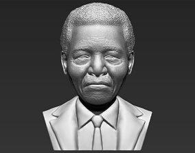 Nelson Mandela bust 3D printing ready stl obj formats