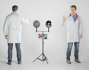 Male doctor pointing at something 279 3D model