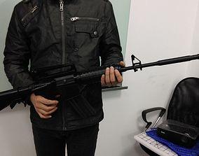 3D print model M4 rifle long barrel
