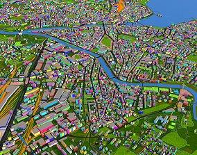 Geneva City of Switzerland September 2020 data 3D model