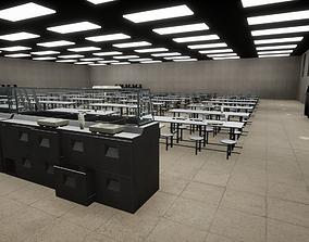 3D model Prison Dining Room Equipment
