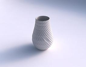 3D printable model Vase twisted with strange tiles