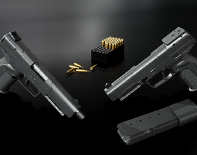 FN Five-Seven MK2 Handgun 3D model