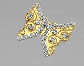 3D print model 3DM sintered butterfly pendant