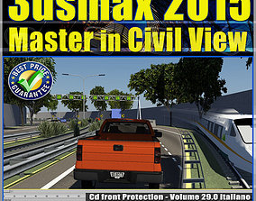 animated 3ds max 2015 Master in Civil View vol 29 cd front