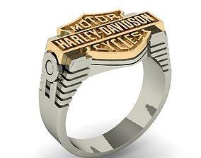 mens ring harley-davidson 3D printable model