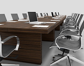 Meeting Table and Chair 3D model