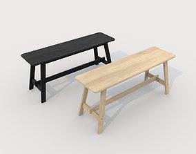 3D model low-poly Norroker bench