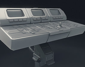3D Scifi Computer Workstation