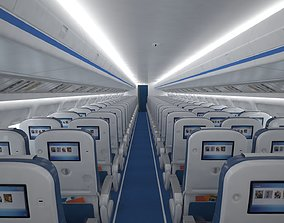3D Airplane cabin 109 seats V2