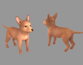 Cartoon pet puppy - PharaohHound - baby dog 3D asset