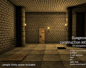 Dungeon Creation Kit - 15 dungeon assets 3D model