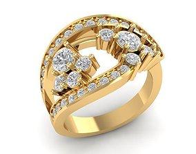 836 Diamond ring 3D print model