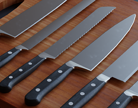 Kitchen Knifes pack - Low Poly Game ready prop 3D low-poly