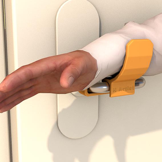 BE PROTECTED - open door with your elbow - 3D print model