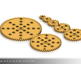 3D printable model Spur Gear Collection 01 power