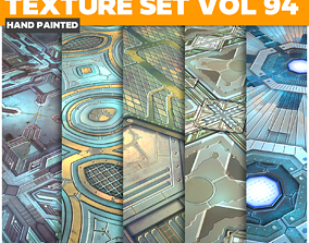 3D asset Scifi Vol 94 - Game PBR Textures