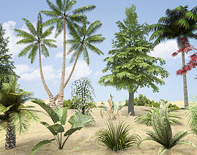 3D asset Plants Grass and Trees Pack