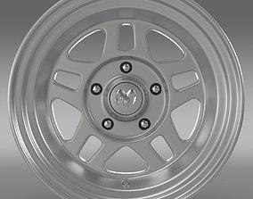 Mopar 2 Dodge Challenger rim 3D model