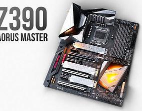 Motherboard GIGABYTE Z390 AORUS MASTER 3D model PBR