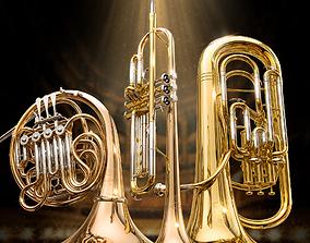 Yamaha wind instruments 3D model