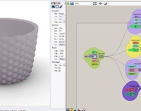 Grasshopper Algorithm Pot holder for 3D printable model