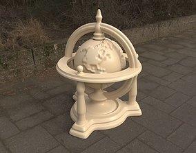 Rotating Engraved Globe - 3 Parts 3D print model