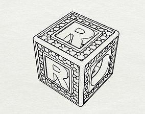 3D printable model Baby Block Charm - R