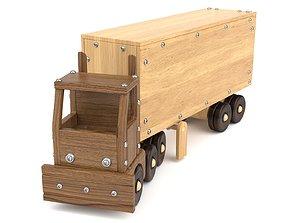 3D model Wooden toy truck 29
