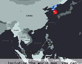 3D model Korean Peninsula