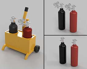 Gas Welding - Diorama Miniature Garage 3D print model 3D