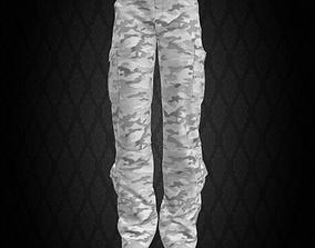 5 Pockets Camo Pants 3D model