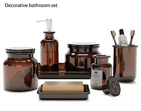 soap Decorative bathroom set 3D model