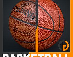 Spalding Official Game Balls Pack 3D model