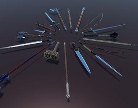 3D asset PBR RPG Weapon Collection Set
