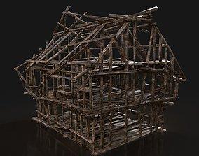 3D asset Next Gen AAA BURNED RUINED OLD DEBRIS FANTASY 2