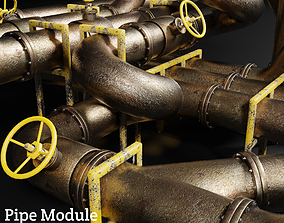 3D asset Pipes Module Unity Ready FBX Unity Package
