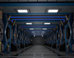 Sci Fi Corridor hallway 3D
