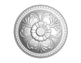 Round plaster ornament 3D printable model