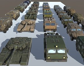Russian Military Vehicles 29 Prefabs I 3D model 4