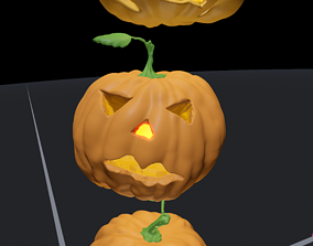 Jack O Lantern Pumpkin Face Have a Spooky 3D model 1